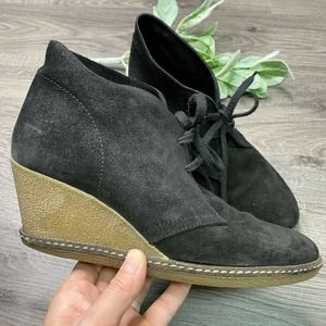 JCREW | sz 8 black Macalister wedge lace up boots